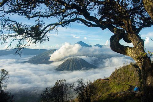 bromo  landscape  indonesia