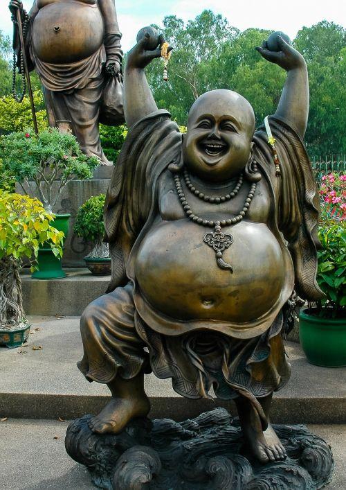 broncefigur statue fat belly