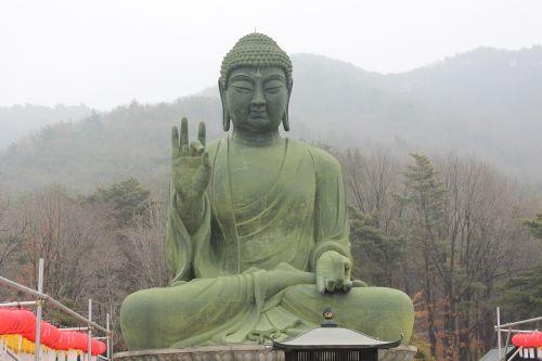 bronze amitabha statue cheonan taejo mountain