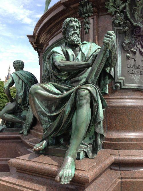 bronze statue man anitik