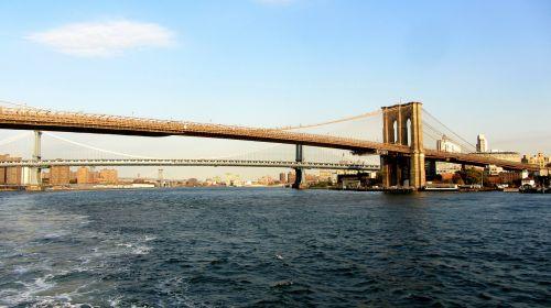 Bruklino tiltas,Manhatano tiltas,Niujorkas,kabantis tiltas,rytinė upė,Manhatanas,tiltas,nyc,usa,didelis obuolys