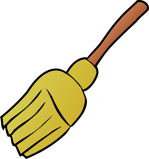 broom handle sweeping
