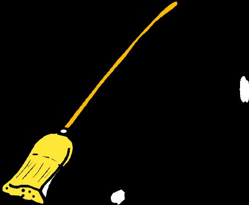 broom broomstick wipe