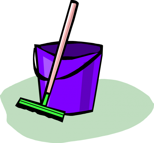 broom bucket cleaning