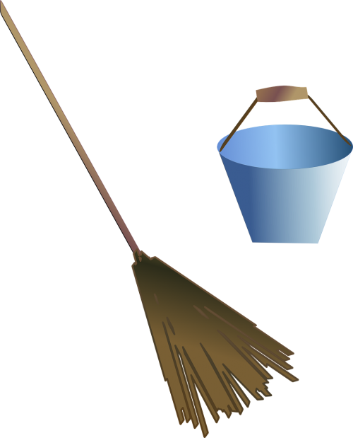 broom bucket cleaning