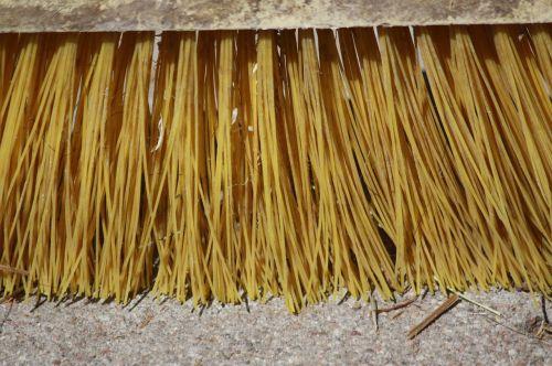 broom bristles plastic