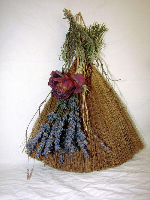 broom table broom old