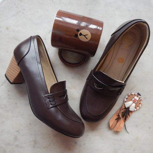 brown  pair of shoes  browny