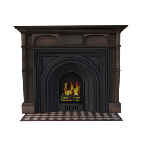 brown  fireplace  wooden