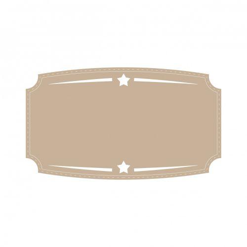 Brown Badge, Label, Banner