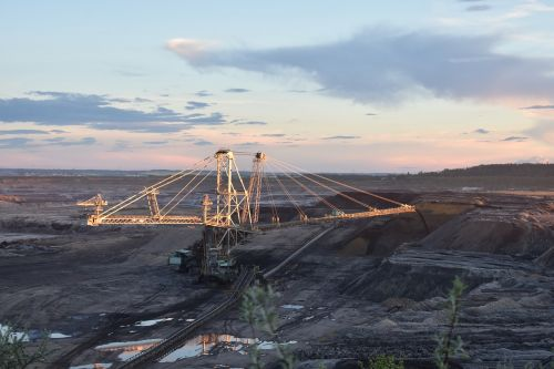 brown coal open pit mining raw material extraction