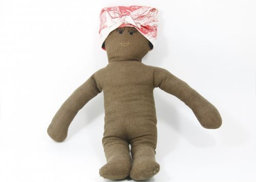 Brown Fabric Baby Doll