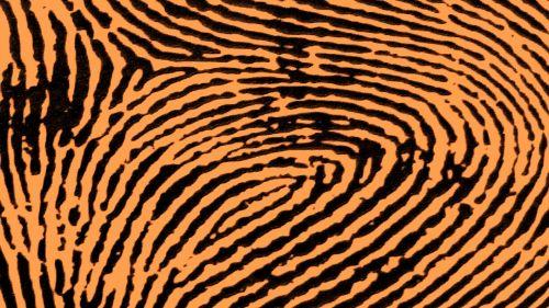 Brown Fingerprint Background
