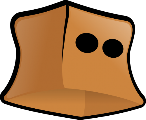 brown paper bag bag mask