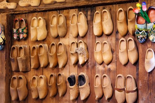 Brown Wooden Clogs