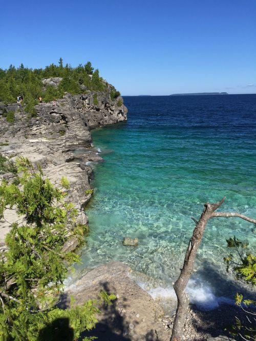bruce peninsula canada blue