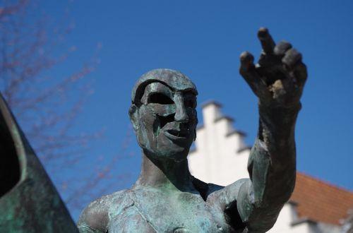 bruges bronze sculpture