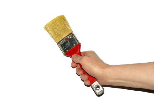 brush woman work