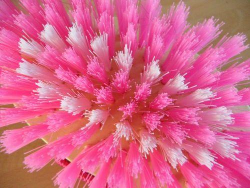 brush bristles close