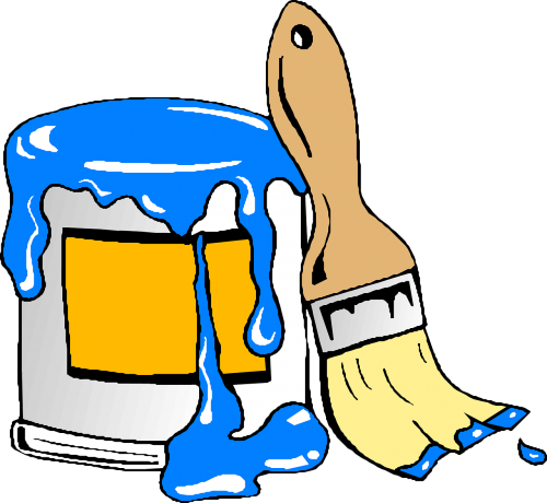 brush paint blue