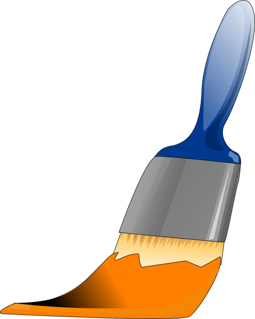 brush paint orange