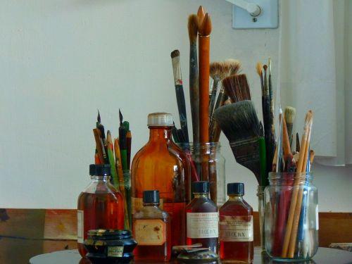šepetys,spalva,rašikliai,dažyti,spalvinga