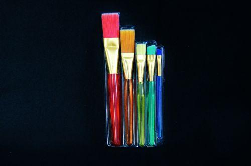 brush set cosmetics coloured