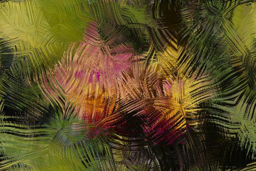 Brush Stroke Floral Background