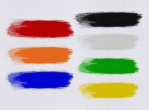 brush strokes  color  canvas