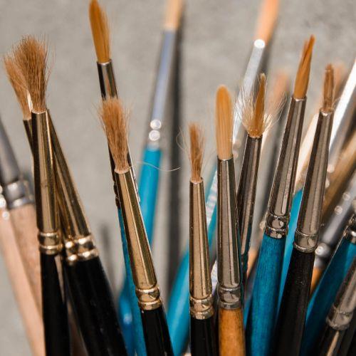 šepečiai,dažymas,menininkas,kūrybinis menas,kūrimas,dažymo įrankiai