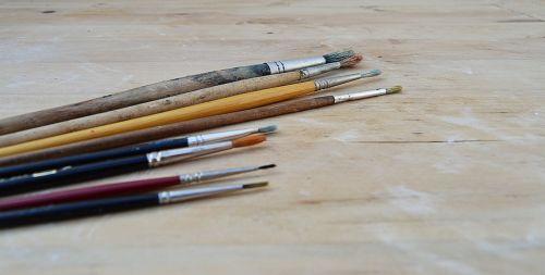 šepečiai,aliejus,dažyti,teptukai tepalams dažyti,mediena,fonas,dėvėti,tekstūra,senoji mediena