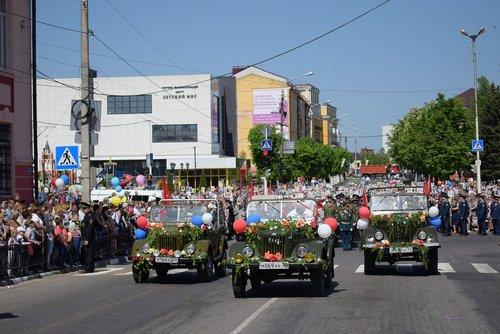 bryansk oblast  the celebration of victory day  russia