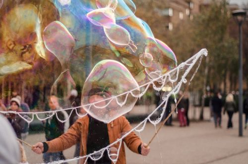 bubble street artis