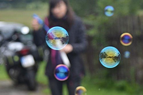bubble blower  bubbles  pleasure