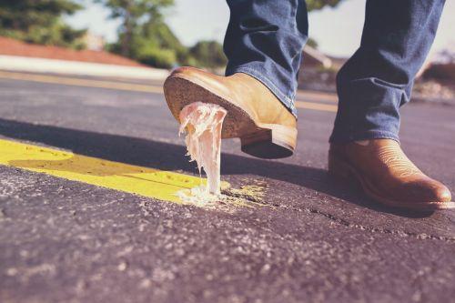 bubble gum shoes glue