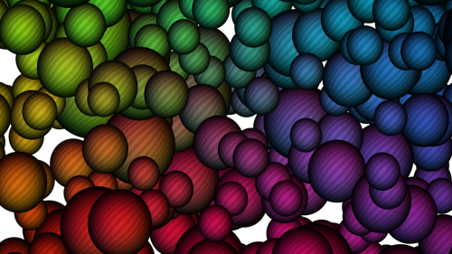 bubbles multicolor 3d