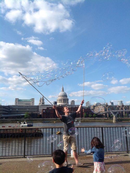 bubbles london sky