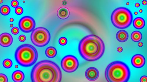 bubbles colorful creative