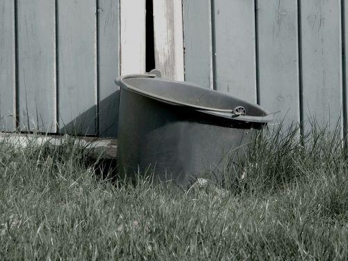 bucket goal grass