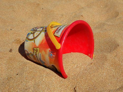 bucket beach sand