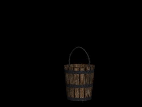 bucket wooden bucket henkel