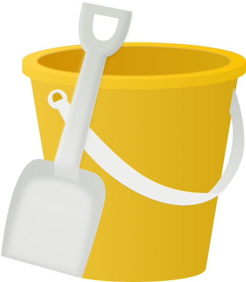 bucket pail shovel