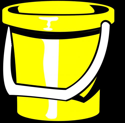 bucket pail yellow