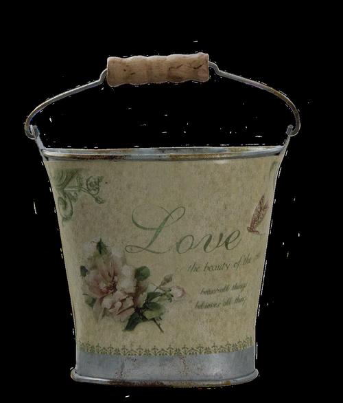 bucket  pail  metal