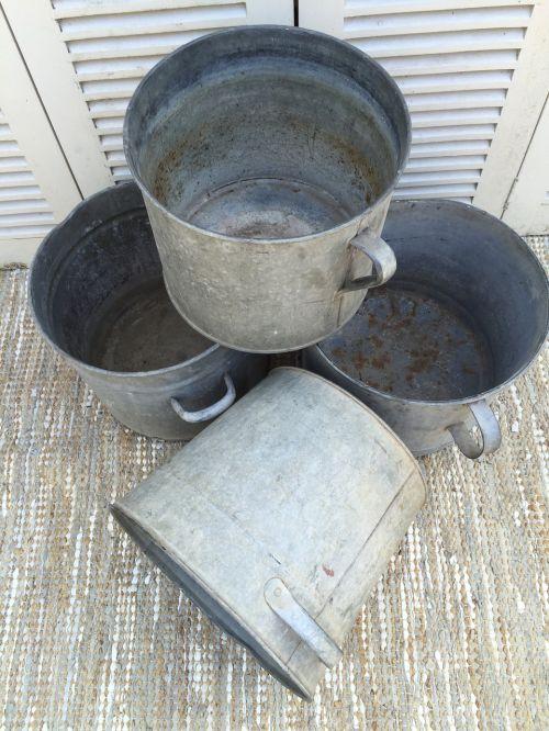 buckets garden gardening