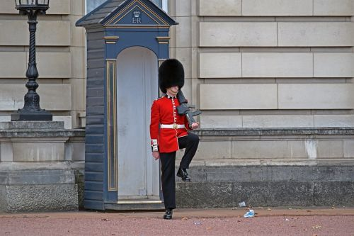buckingham palace guard london england