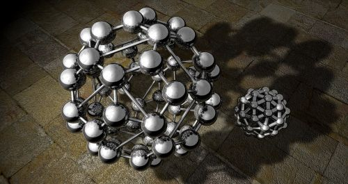 buckyball polyhedron models of the atom