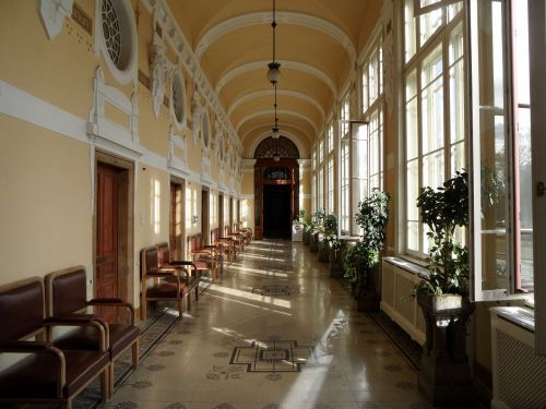 budapest bath house corridor