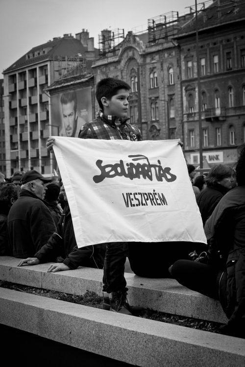 budapest, vengrija, demonstracija, vengrų kalba, Magyar, Europa, miestas, Solidarumas