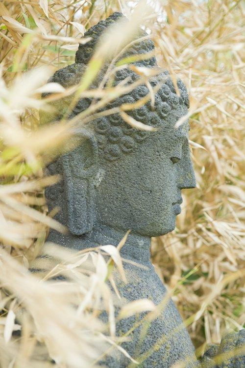 buddah  stone figure  monk